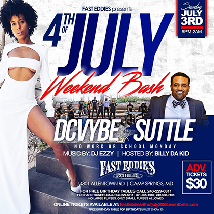 EU's Sugar Bear with Vybe at Fast Eddie's flyer
