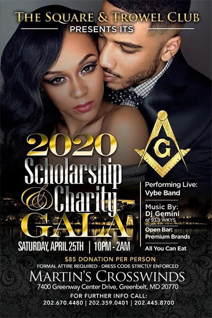 Scholarship and Charity Gala flyer