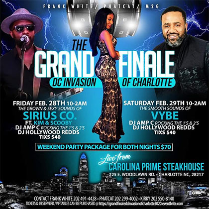The Grand Finale DC Invasion of Charlotte, NC flyer