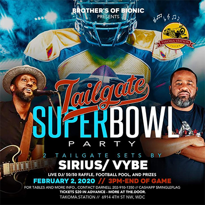 Tailgate Superbowl Party at Takoma Station